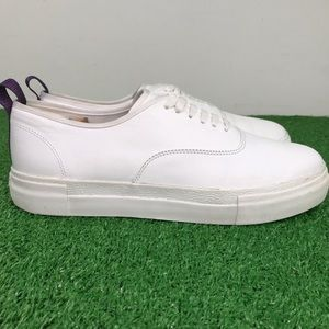 Eytys Mother Leather Low White Shoes Sneakers